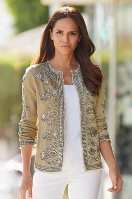 Embellished Linen Jacket