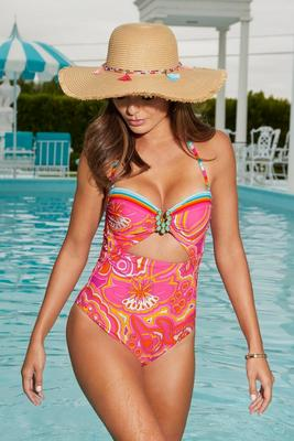 Trina Turk Sunrise Hardware One-Piece Swimsuit