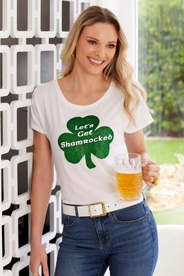 Let's Get Shamrocked Graphic Short-Sleeve Tee