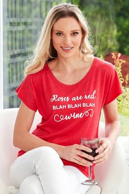 Roses Are Red Graphic Short-Sleeve Tee