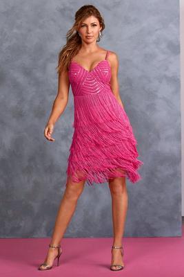 Embellished Fringe Dress