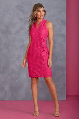 Display product reviews for Lace V-Neck Sheath Dress