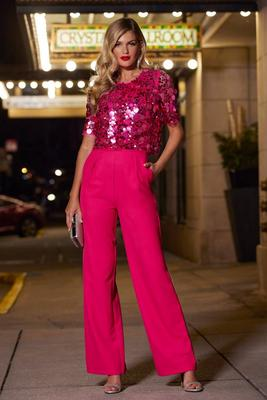 Paillette Embellished Jumpsuit