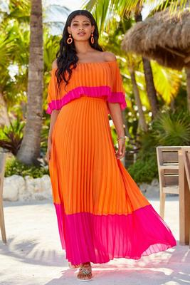 Display product reviews for Pleated Overlay Maxi Dress