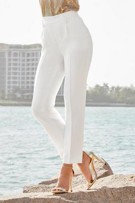 Pleated Front Pull-On Pant