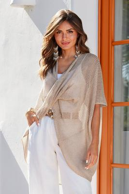 Effortless Wrap Sweater Poncho