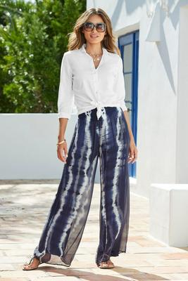 Display product reviews for Tie-Dye Layered Palazzo Pant