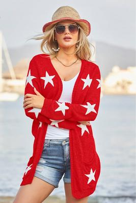 Display product reviews for Patriotic Star Cardigan