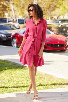 Display product reviews for Linen Shirt Dress