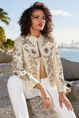 beaded floral jacket