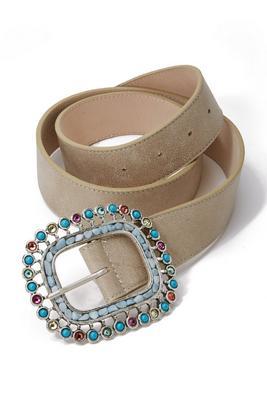Multicolor Buckle Belt
