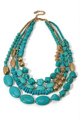 Turquoise Stone Statement Necklace