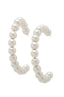 Display product reviews for Pearl Hoop Earrings