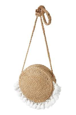 Fringe Detail Woven Circle Bag