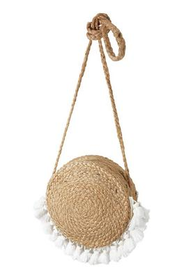 Fringe Detail Woven Circle Bag