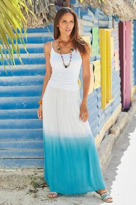 Summer Essentials Gauze Dip-Dye Skirt