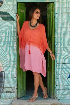 Summer Essentials Gauze V-Neck Tunic Dress