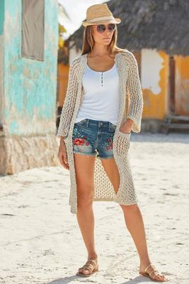 Embroidered and Embellished Short
