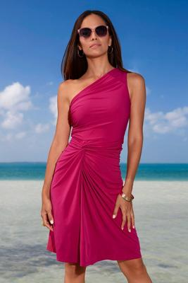 Display product reviews for One-Shoulder Ruched Dress