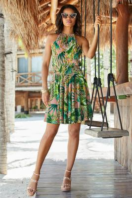 Tropical Chain Print Dress