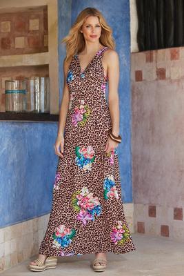 Tropical Jungle Printed Maxi Dress