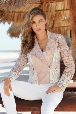 Colorblocked Lace Jacket