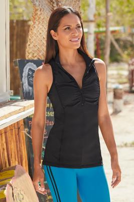 Sleeveless Ruched Sport Top