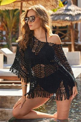 Effortless Crochet Pullover Poncho