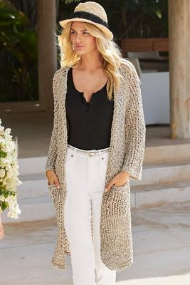 Open Knit Effortless Sweater Duster