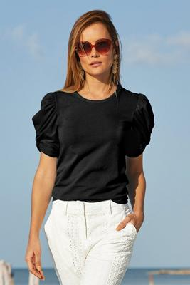 Display product reviews for Twist Detail Puff-Sleeve Tee