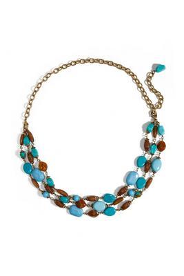 turq stone convertible belt/necklace