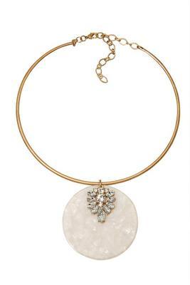 Opal Crystal Choker Necklace