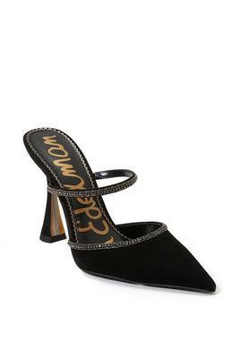 heeled dress mule