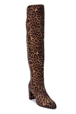 leopard over-the-knee boot