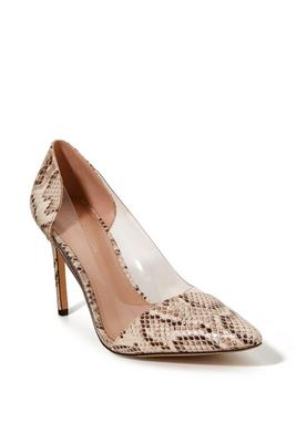 python pointed-toe vinyl pump