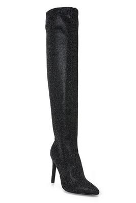 shimmer over-the-knee boot
