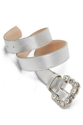 silver rhinestone buckle belt