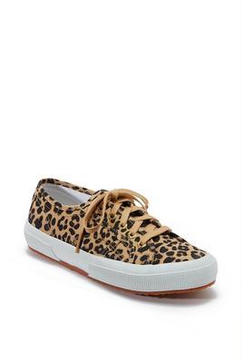 leopard lace-up sneaker