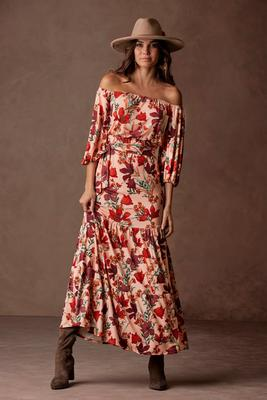 Display product reviews for Off-The-Shoulder Floral Maxi Dress