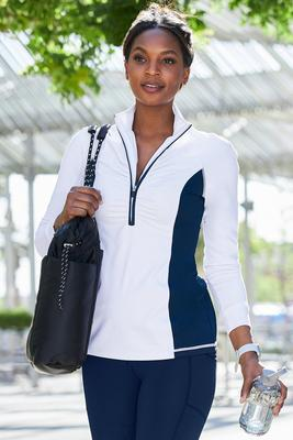 b-active long-sleeve ruched sport top