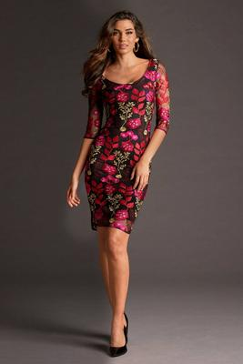 Display product reviews for Floral Embroidered Mesh Dress
