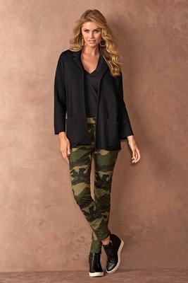 embellished camo jean