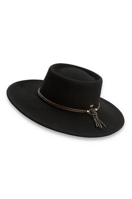 Bead Embellished Felt Hat