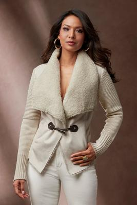 Faux Sherpa Sweater Jacket