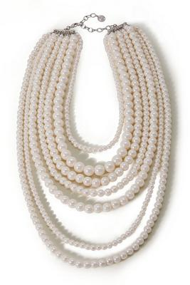 Display product reviews for Layered Pearl Necklace