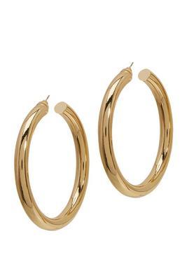 Thick Statement Hoop Earrings