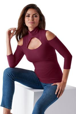 So Sexy Cutout Turtleneck Top