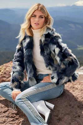 Multi-Color Faux-Fur Jacket