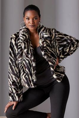 Zebra Faux-Fur Chubby