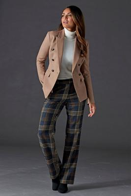 Plaid High-Rise Trouser